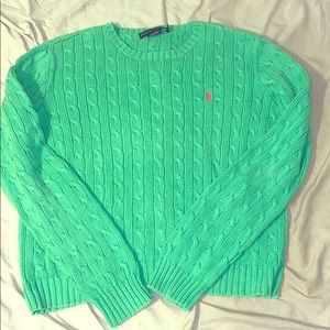 Women's XL Ralph Lauren Cable Knit Sweater